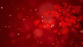 Año Nuevo chino también conocido como el fondo digital de las partículas del festival de primavera con el ornamento chino y decor ilustración del vector