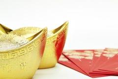 Año Nuevo chino y oro Foto de archivo