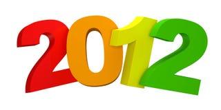Año Nuevo colorido 2012 Fotos de archivo libres de regalías