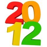 Año Nuevo colorido 2012 Imagenes de archivo