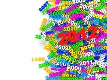 Año Nuevo colorido 2012 Fotografía de archivo libre de regalías