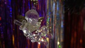 Año Nuevo Composición de la Navidad de mandarines, de las ramas de árbol de navidad y del ángel Fotos de archivo