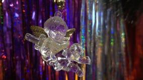 Año Nuevo Composición de la Navidad de mandarines, de las ramas de árbol de navidad y del ángel Fotografía de archivo libre de regalías