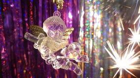Año Nuevo Composición de la Navidad de mandarines, de las ramas de árbol de navidad y del ángel Fotos de archivo libres de regalías