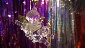 Año Nuevo Composición de la Navidad de mandarines, de las ramas de árbol de navidad y del ángel Imagen de archivo
