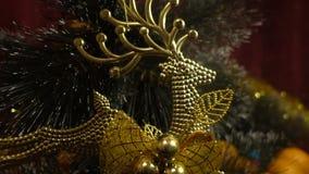 Año Nuevo Composición de la Navidad de mandarines, de ramas de árbol de navidad y de figuras de la Navidad Imagenes de archivo