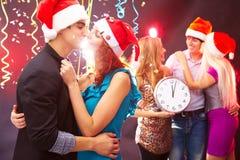 Año Nuevo con amados Imagen de archivo libre de regalías