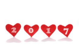 Año Nuevo 2017 con amor Fotos de archivo
