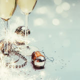 Año Nuevo con el fondo del champán Fotos de archivo libres de regalías