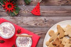 Año Nuevo con huevo-tirón, galletas Imagen de archivo