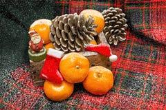 Año Nuevo con las mandarinas Imagen de archivo