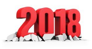 Año Nuevo concepto de 2018 días de fiesta Fotografía de archivo