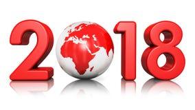 Año Nuevo concepto de 2018 días de fiesta Fotografía de archivo libre de regalías
