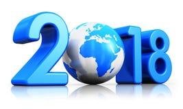 Año Nuevo concepto de 2018 días de fiesta Imágenes de archivo libres de regalías