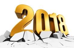 Año Nuevo concepto de 2018 días de fiesta Fotos de archivo