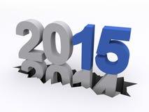 Año Nuevo 2015 contra 2014 Fotos de archivo libres de regalías