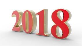 Año Nuevo 2018 3d Foto de archivo libre de regalías