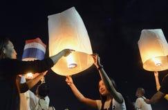 AÑO NUEVO DE ASIA TAILANDIA BANGKOK Imagen de archivo libre de regalías
