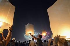 AÑO NUEVO DE ASIA TAILANDIA BANGKOK Imágenes de archivo libres de regalías
