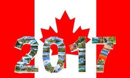Año Nuevo de Canadá 2017 Fotografía de archivo libre de regalías