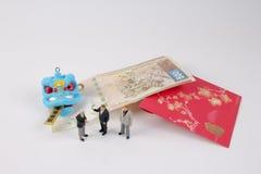 Año Nuevo de Chiness con el paquete rojo Fotos de archivo libres de regalías