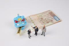 Año Nuevo de Chiness con el paquete rojo Imagen de archivo libre de regalías