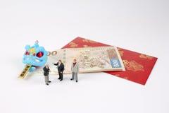 Año Nuevo de Chiness con el paquete rojo Imagen de archivo