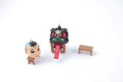 Año Nuevo de Chiness con la figura del dnace del león Imágenes de archivo libres de regalías