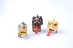 Año Nuevo de Chiness con la figura del dnace del león Fotos de archivo libres de regalías