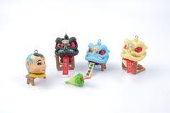 Año Nuevo de Chiness con la figura del dnace del león Imagen de archivo libre de regalías