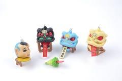 Año Nuevo de Chiness con la figura del dnace del león Fotografía de archivo libre de regalías