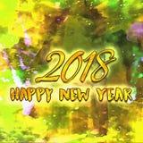 Año Nuevo de dibujo 2018 con el cepillo Fotografía de archivo