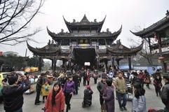 Año Nuevo de Dujiangyan de la aldea de China sichuan Fotografía de archivo