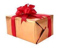 Año Nuevo de la caja de regalo Fotografía de archivo libre de regalías
