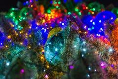 Año Nuevo de la campana de la Navidad Imagenes de archivo