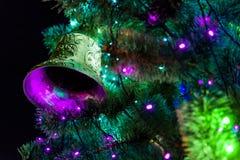 Año Nuevo de la campana de la Navidad Fotografía de archivo libre de regalías