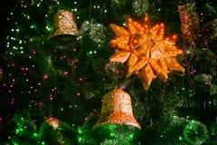 Año Nuevo de la campana de la Navidad Imagen de archivo