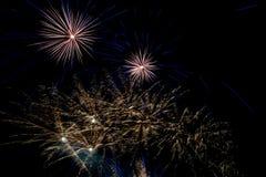 Año Nuevo de la celebración del fuego artificial Foto de archivo libre de regalías