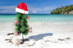 Año Nuevo de la celebración en la playa tropical Imagen de archivo