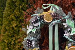 Año Nuevo de la decoración de la guirnalda de la Navidad Imagenes de archivo