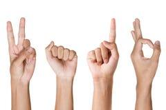 Año Nuevo 2016 de la demostración de la señal de mano Imagenes de archivo
