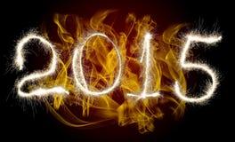 Año Nuevo 2015 de la fecha Fotos de archivo libres de regalías