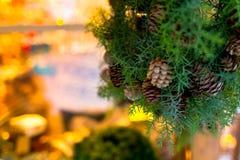 Año Nuevo de la guirnalda de la Navidad Imágenes de archivo libres de regalías