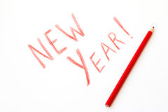 Año Nuevo de la inscripción Fotografía de archivo