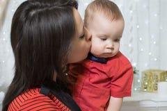 Año Nuevo de la mamá y del bebé Fotos de archivo