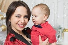 Año Nuevo de la mamá y del bebé Fotografía de archivo libre de regalías