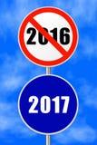Año Nuevo 2017 de la muestra redonda Imagen de archivo libre de regalías