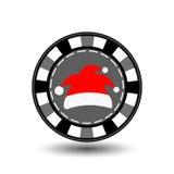 Año Nuevo de la Navidad de la ficha de póker Ejemplo del icono EPS 10 en un fondo blanco a separarse fácilmente Uso para los siti Fotografía de archivo libre de regalías