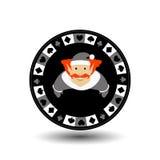 Año Nuevo de la Navidad de la ficha de póker Ejemplo del icono EPS 10 en un fondo blanco a separarse fácilmente Uso para los siti libre illustration