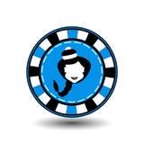 Año Nuevo de la Navidad de la ficha de póker Ejemplo del icono EPS 10 en un fondo blanco a separarse fácilmente Uso para los siti Foto de archivo libre de regalías